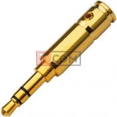 Штекер 3.5мм стерео TCOM, gold, металлический корпус, золотистый