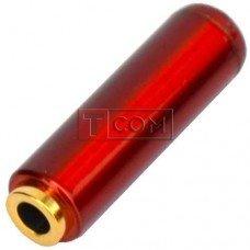 Гнездо 3.5мм 4C TCOM, под шнур,металлический корпус, красный