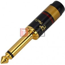 Штекер 6.3мм монo TCOM, металлический, gold, HQ, без пружины