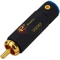 Штекер RCA TCOM, профессиональный, gold, Ø6мм, шестигранный