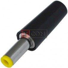 Штекер питания DC, 5.5\2.1мм (жёлтый), длина 14мм, корпус бакелит