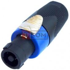 Штекер Спикон 4-х контактный, TCOM, HQ под шнур, корпус пластик