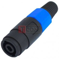 Гнездо Спикон 4-х контактный, TCOM, под шнур, корпус пластик