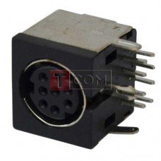 Гнездо mini DIN 8 pin TCOM, монтажное, корпус пластик
