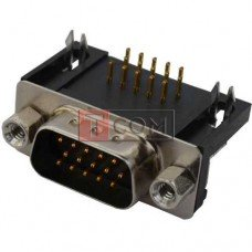 Штекер HDRB-15pin TCOM монтажный, угловой, для платы (3-х рядный)