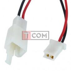 Разъём автомагнитолы TCOM, 2-х контактный, с кабелем