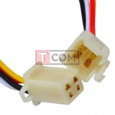 Разъём автомагнитолы TCOM, 4-х контактный, с кабелем
