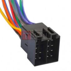 Разъём автомагнитолы ISO штекер TCOM, сдвоенный, с кабелем 0.2 м