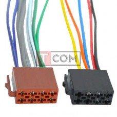 Разъём автомагнитолы ISO гнездо TCOM, с кабелем 0.2 м, 2шт