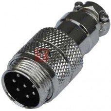Разъём MIC 347, TCOM, штекер, под кабель, 7pin, Ø16мм
