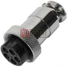 Разъём MIC 325 mini TCOM, гнездо, под кабель, 5pin, Ø12мм