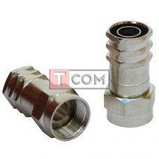 Штекер F (RG-6) TCOM, обжимной, латунь (Тип 2)