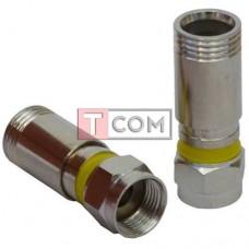 Штекер F (RG-6) TCOM, компрессионный, латунь