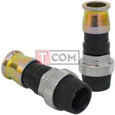 Штекер F (RG-59) TCOM компрессионный (USA), с пыльником, латунь