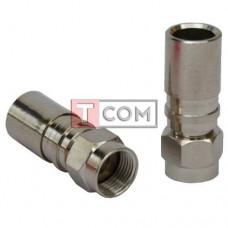 Штекер F для кабеля RG-6, компрессионный, медь