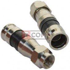 Штекер F для кабеля RG-6 TCOM, компрессионный, медь (Тип 2)