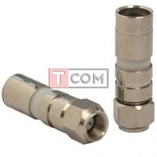 Штекер F для кабеля RG-11, компрессионный, медь