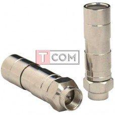 Штекер F для кабеля RG-11 TCOM, компрессионный, медь