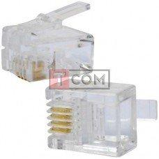 Штекер телефонный 6р4с (RJ-11) TCOM, normal quality