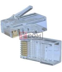 Штекер 8р8с (RJ-45), Middle quality, упаковка 100шт