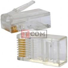 Штекер компьютерный 8р8с (RJ-45) Normal Quality TCOM