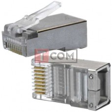 Штекер телефонный TCOM 8P8C (RJ-45), экранированный (Тип2)