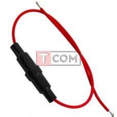 Держатель предохранителя (Fuse) TCOM, 5х20мм, с кабелем