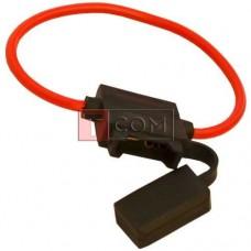"""Держатель автопредохранителя W/8"""" TCOM, 12AWG, с кабелем (Тип2)"""