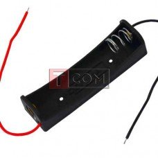 Корпус для одной батарейки типа АА TCOM, 17х58мм, с проводами