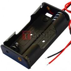 Корпус для двух батареек типа АА TCOM, 30х58мм, с проводами