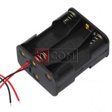Корпус для шести батареек типа АА TCOM, 29х48х58мм, с проводами