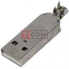 Штекер USB тип А TCOM, разборной, под шнур, без копуса
