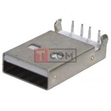 Штекер USB TCOM, тип A, монтажный, угловой