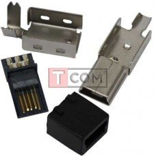 Штекер mini USB 5pin TCOM, под шнур, разборной