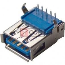 Гнездо USB тип A vers.3.0, 90°, монтажное