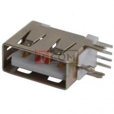 Гнездо USB тип A TCOM монтажное, угловое короткое