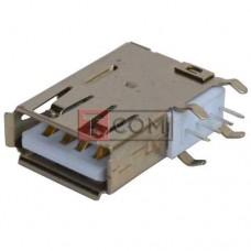 Гнездо USB тип A TCOM, монтажное, угловое длинное