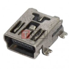 Гнездо mini USB 5pin TCOM, монтажное, тип SMT