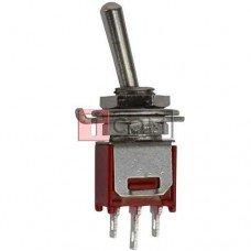 Тумблер SMTS-103-2А1 (ON-OFF-ON) TCOM, 3pin, 3A, 250VAC