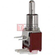 Тумблер SMTS-103-2C3 (ON-OFF-ON) TCOM, 3pin, 1.5A, 250VAC