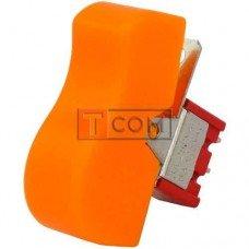 Тумблер с клавишей RLS-103-D1 (ON-OFF-ON) TCOM, 3pin, 3A, 250VAC, жёлтый