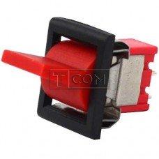 Тумблер с клавишей RLS-103-F1 (ON-OFF-ON) TCOM, 3pin, 3A, 250VAC, красный