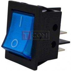 Переключатель с подсветкой IRS-201-3C3 ON-OFF TCOM, 4pin, 12V, 35А, синий