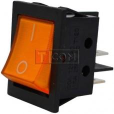 Переключатель с подсветкой IRS-201-3C3 ON-OFF TCOM, 4pin, 12V, 35А, жёлтый