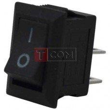 Переключатель mini SMRS-101-1 ON-OFF, 2pin, 3A, 220V, чёрный