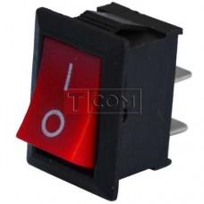 Переключатель MRS-101A ON-OFF TCOM,  2pin, 6A, 220В, красный