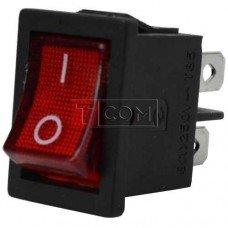 Переключатель MRS-201A ON-OFF TCOM, 4pin, 6A, 220V, красный