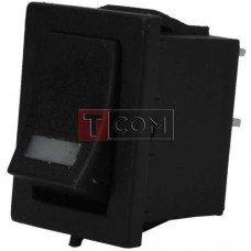 Переключатель с подсветкой MIRS-101-3+LED ON-OFF TCOM, 4pin, 3A, 220V, красный