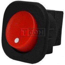 Переключатель круглый под винт MRS-101-7С ON-OFF TCOM, 2pin, 6A, 220V, красный