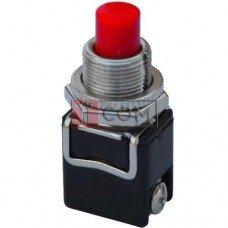 Кнопка PBS-13B без фиксации OFF-(ON) TCOM, 2-х контактный, 4А, 250V, красная
